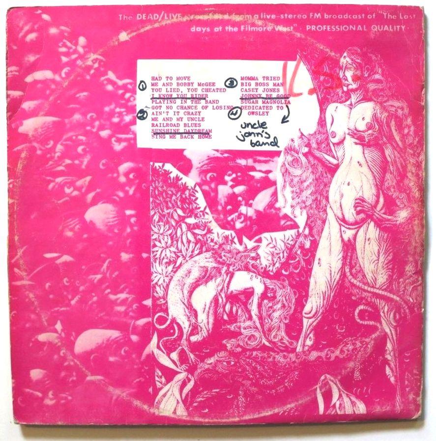 Grateful Dead Live Fillmore pink