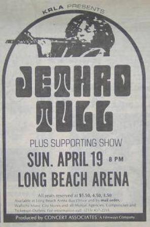 Tull Long Beach 1970