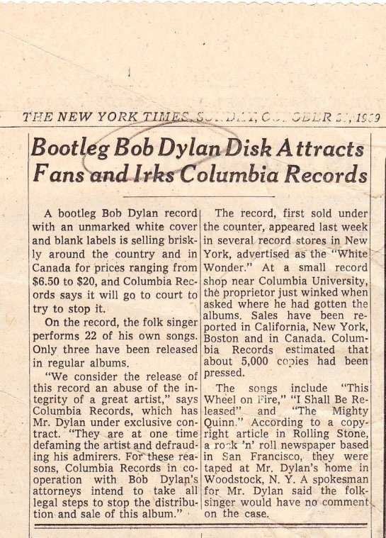 dylan bootleg NY Times 69