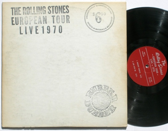 Rolling Stones Euro Tour Live 1970 red lbl