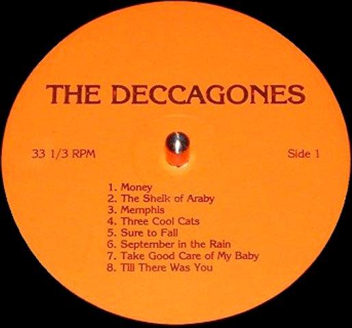 Beatles Deccagones red lbl