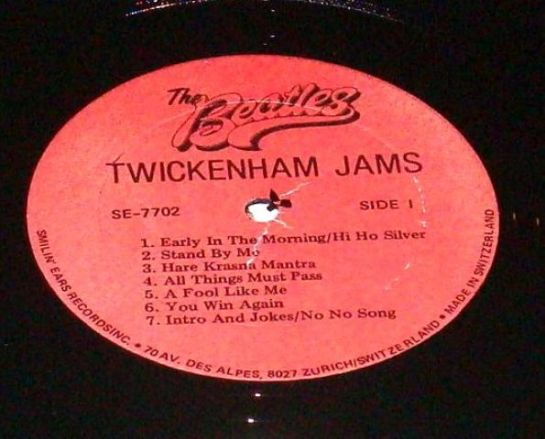 Beatles Tw Jams LP red lbl