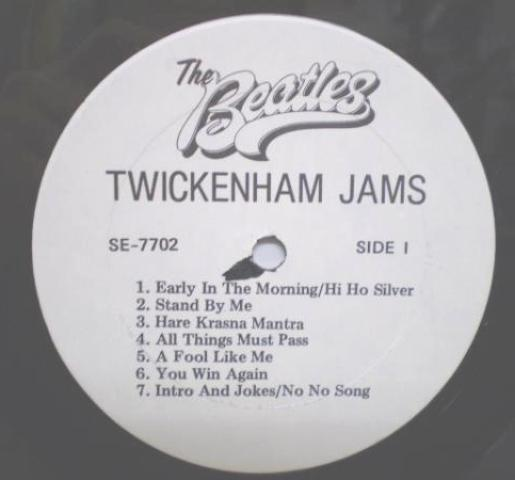 Beatles Tw Jams LP white lbl