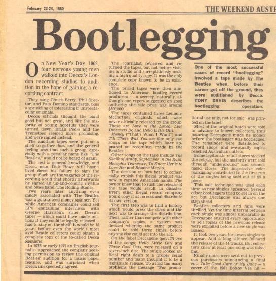Bootlegging