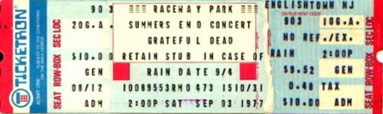 GD ticket Englishtown 77
