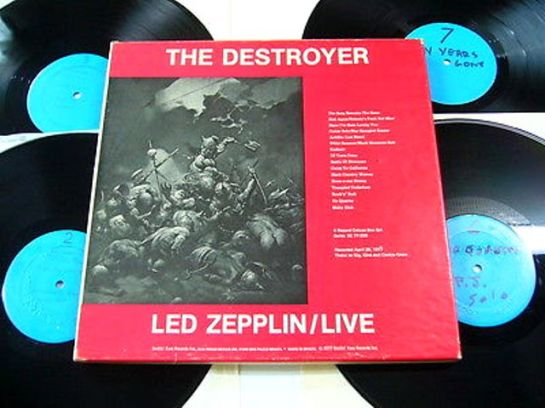 Led Zep The Destroyer 4LP blu