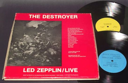 Led Zep The Destroyer 4LP yel blu