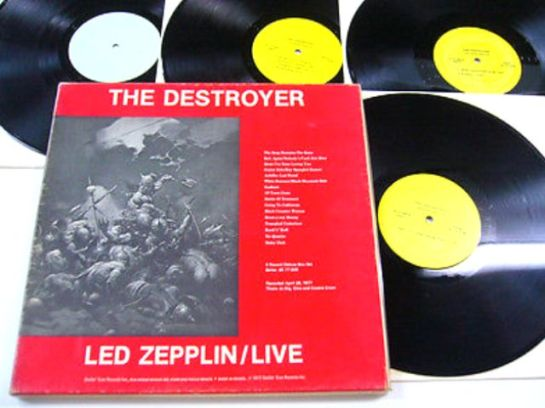 Led Zep The Destroyer 4LP yel