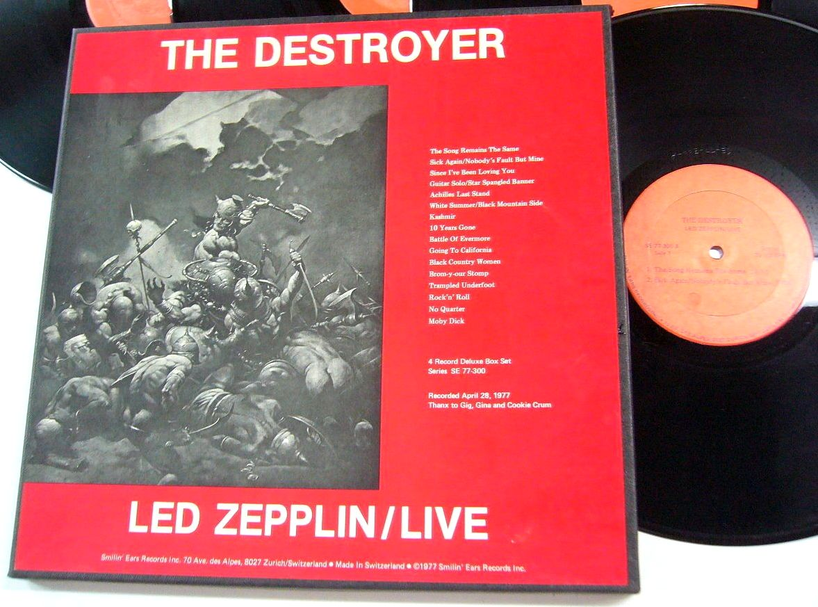 Led Zeppelin The Destroyer 4 Lp Box Smilin Ears 77 300
