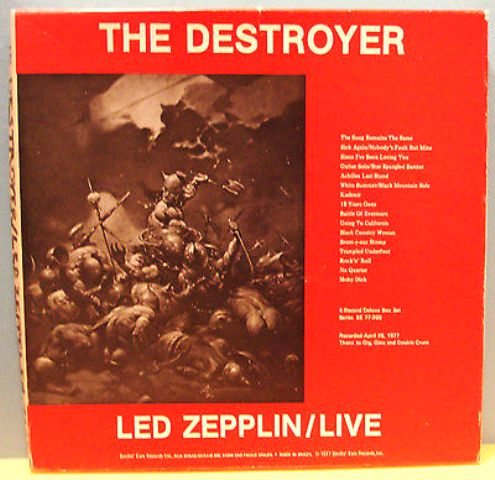Led Zep The Destroyer spine