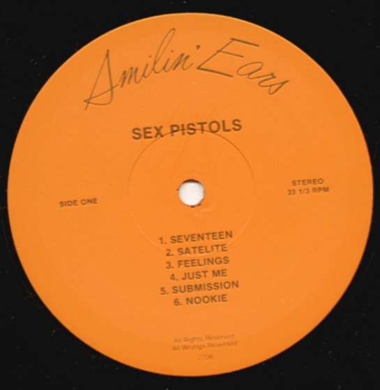 Sex Pistols Filth + the Fury lbl 1