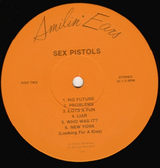 Sex Pistols Filth + the Fury lbl 2