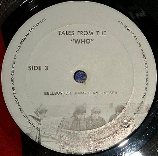 Tales from The Who cv lbl