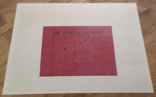 Led Zeppelin In Concert 660 II