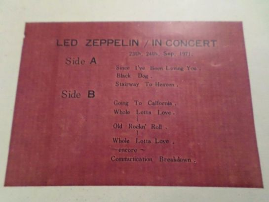 Led Zeppelin In Concert 660 track list