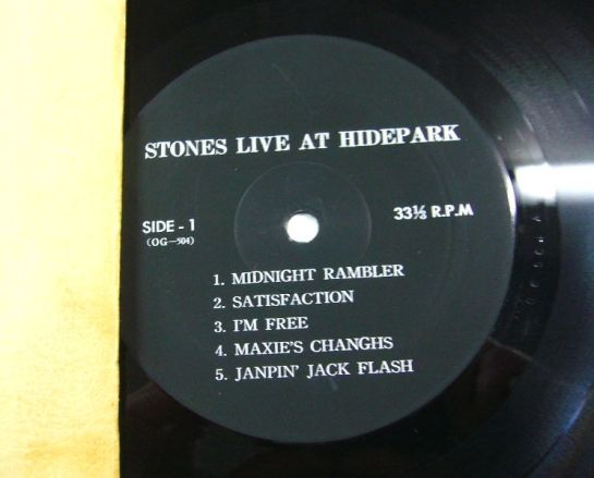 Rolling Stones Live Hidepark lbl 1