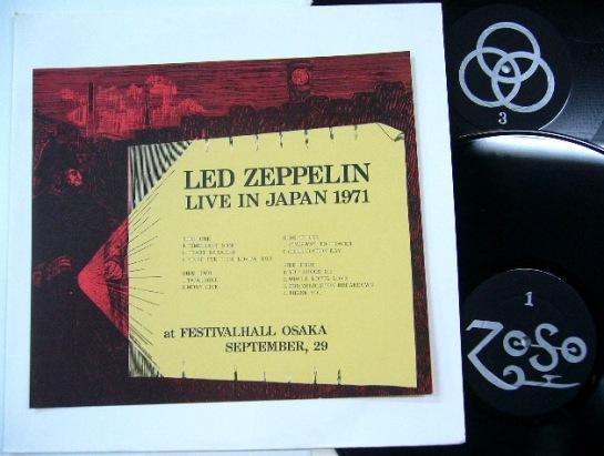 Led Zeppelin Live Japan 1971 2 LP