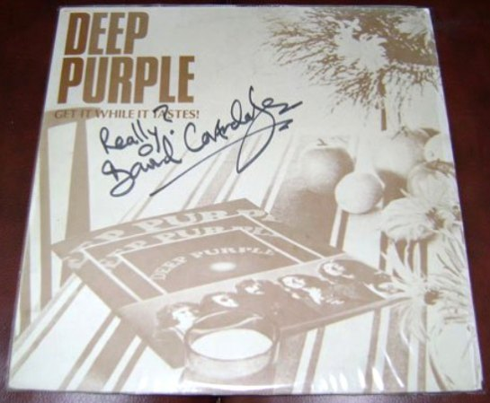 Deep Purple Get It While It Tastes signed