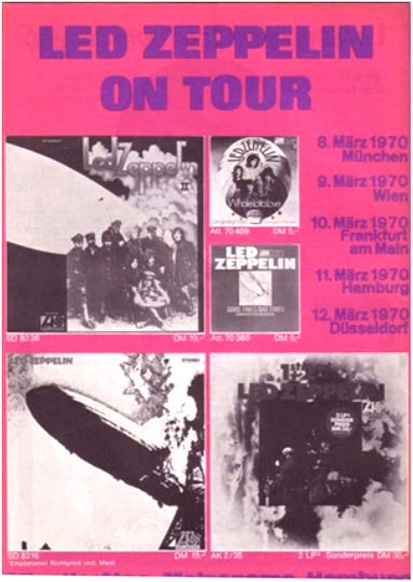 Led Zep DE shows 70