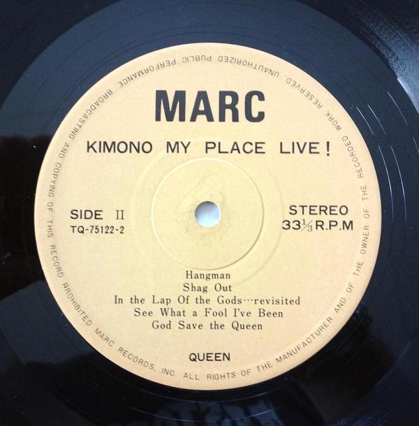 QUEEN 'Kimono My Place Live!' - MARC 75122 (4/6)
