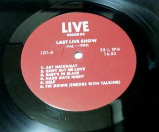 Beatles Last Live S red lbl