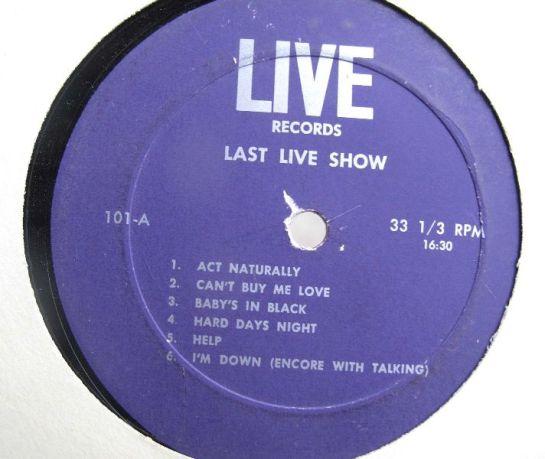 Beatles Last Live Show lbl