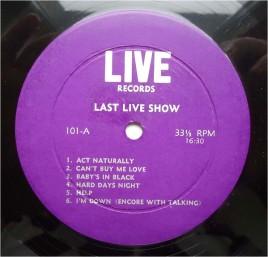 Beatles Last Live Show purp lbl A