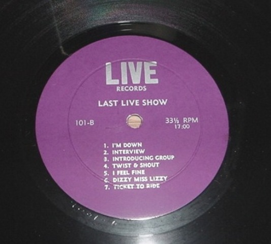 Beatles LastLShow lbl B