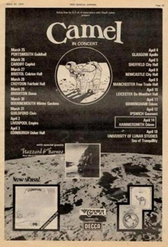 Camel Moonmadness-Tour Ad