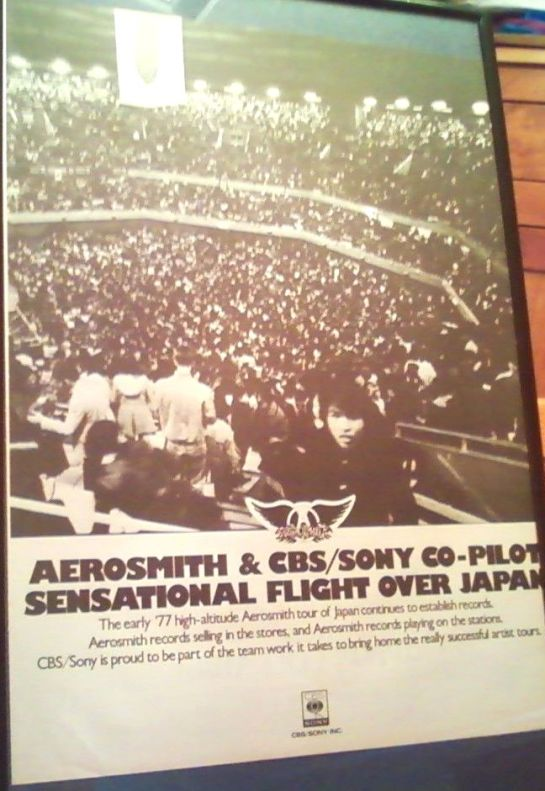 Aerosmith Japan 77 ad