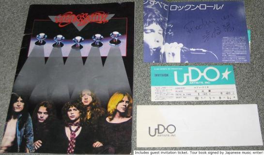 Aerosmith Japan 77