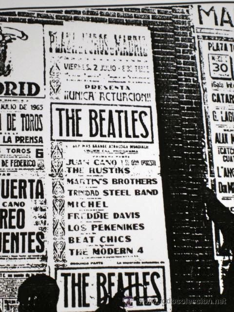 Beatles Madrid poster