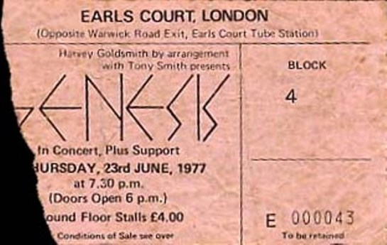 Genesis Earl's Court June 23