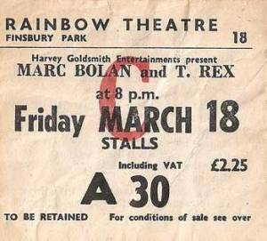 T Rex Rainbow ticket