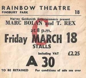 T Rex Rainbow ticket