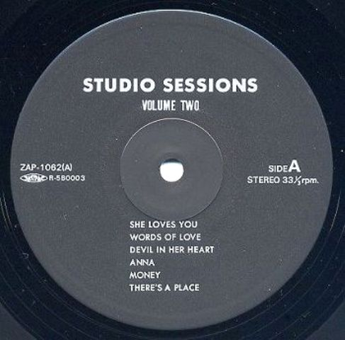 Beatles Studio Sessions ZAP 1062 lbl A