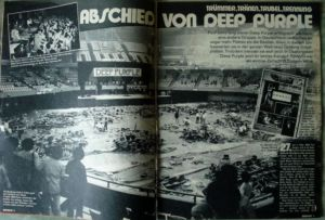 Deep Purple Abschied 73