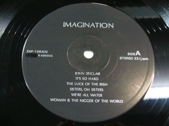 Lennon J Imagination ZAP 1064 label