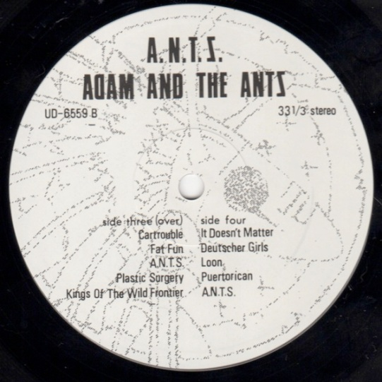 Adam & The Ants A.N.T.S. lbl 4