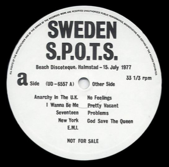 Sex Pistols Sweden lbl a