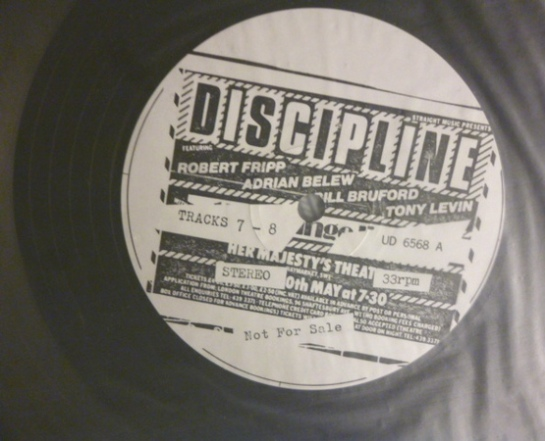 King Crimson Discipline lbl 2