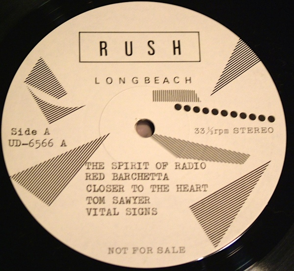 Rush Tom Sawyer Ud 6565 6 The Amazing Kornyfone Label