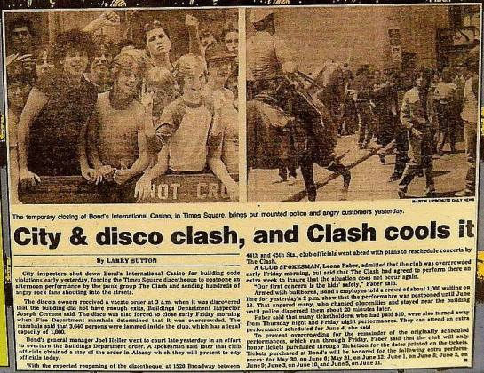 Clash cools it