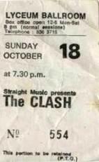Clash Lyceum 81 ticket