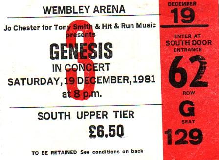 Genesis Wembley 81