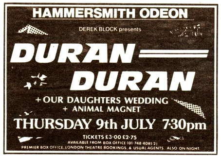 Duran Duran July 9 81 ad