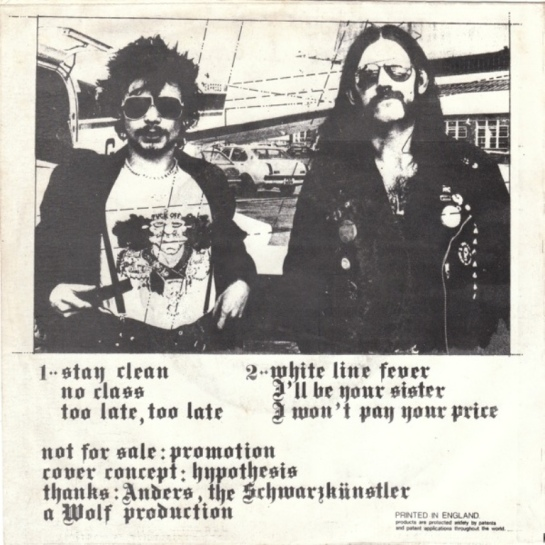 Motörhead e.f.ox EP b