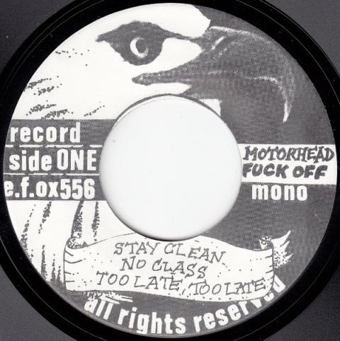 Motörhead e.f.ox EP lbl 1