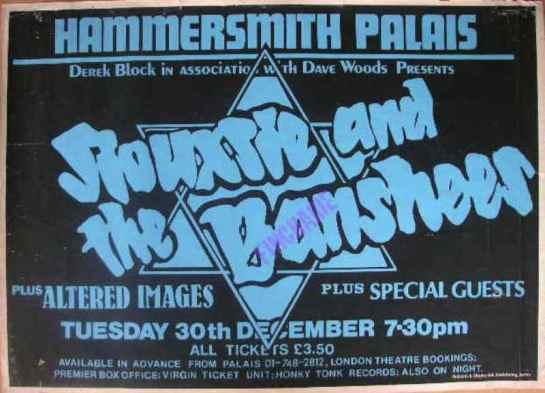 Siouxsie atB Hammersm Pal ad