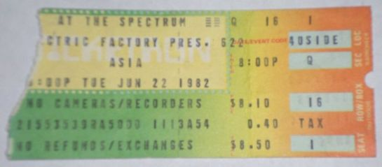 Asia Philly 82 ticket
